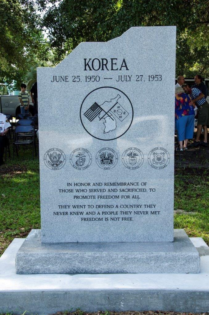Korean War Memorial Dedication
