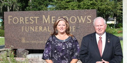 Badger Moring & Tracy Brown Join  Forest Meadows Funeral Home