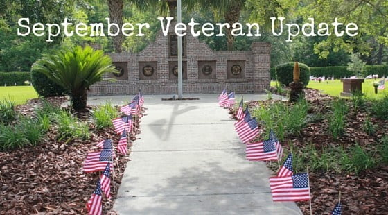 September Veteran's Update for Forest Meadows Funeral Home and Cemetery