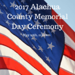 2017 Alachua County Memorial Day Ceremony
