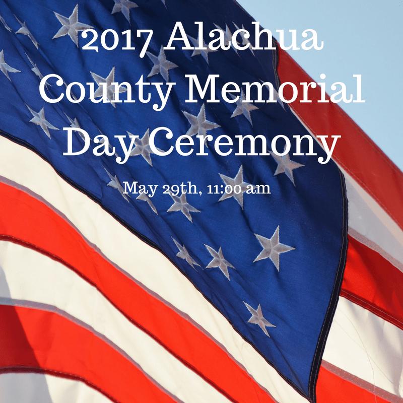 2017 Alachua County Memorial Day Ceremony